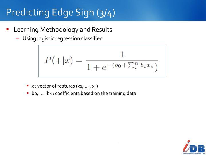 Predicting Edge Sign (3/4)