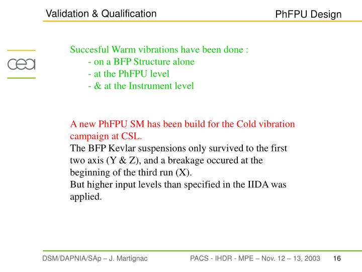 Validation & Qualification
