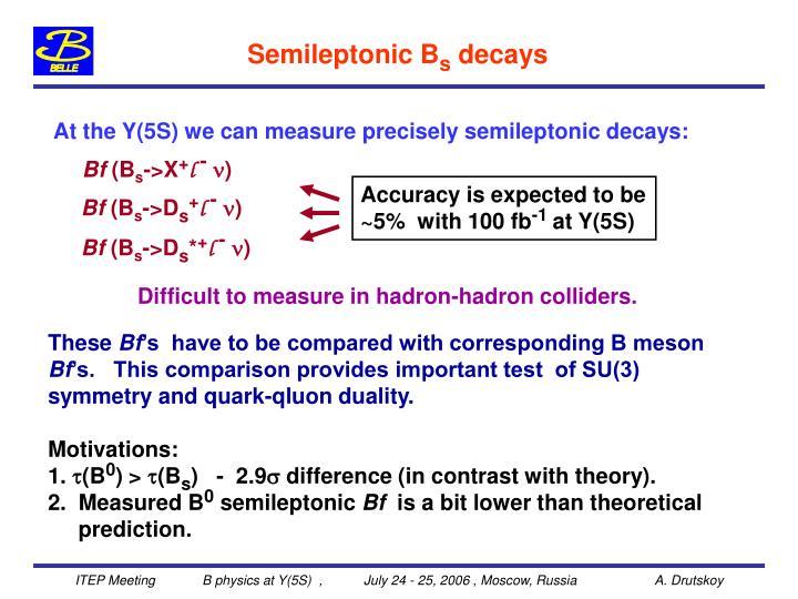 Semileptonic