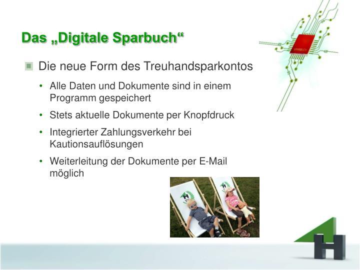 "Das ""Digitale Sparbuch"""