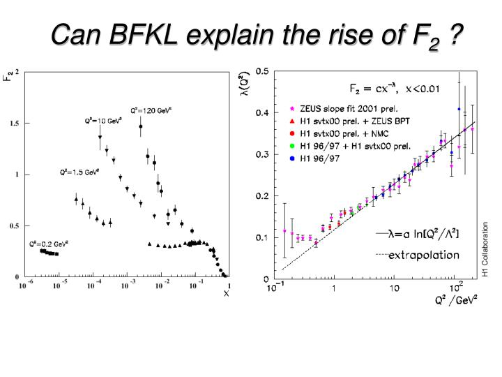 Can BFKL explain the rise of F