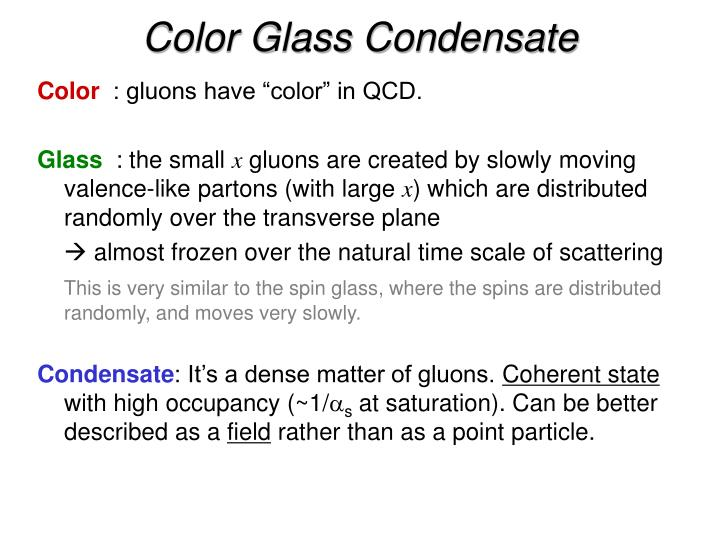 Color Glass Condensate