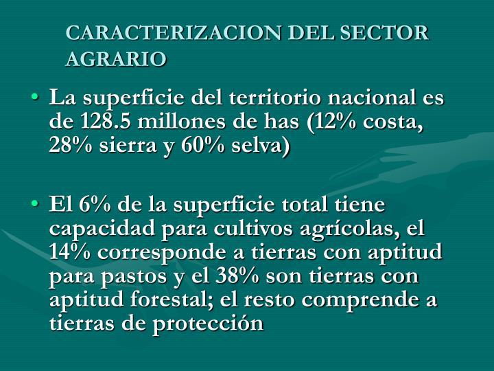 CARACTERIZACION DEL SECTOR AGRARIO