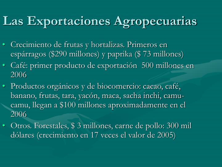Las Exportaciones Agropecuarias