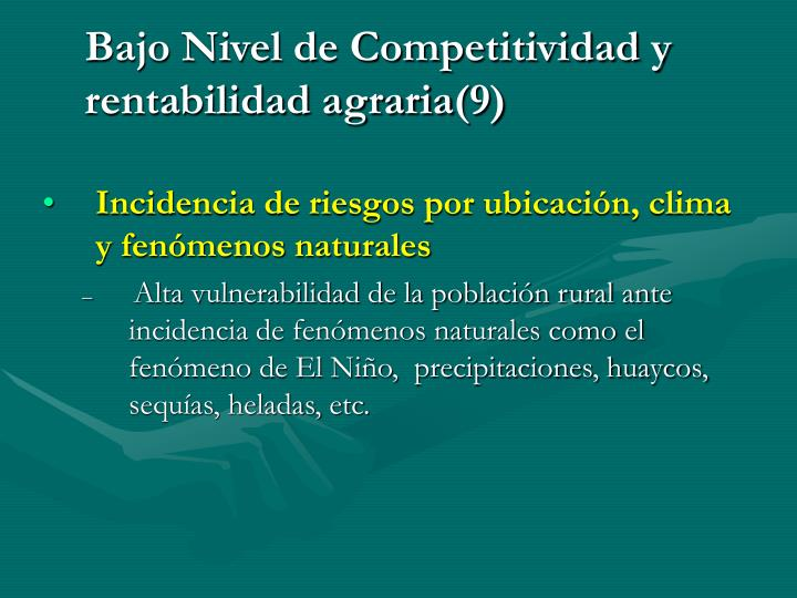 Bajo Nivel de Competitividad y