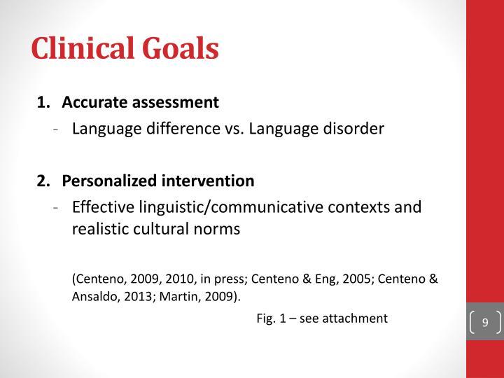 Clinical Goals
