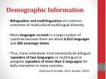 demographic information1