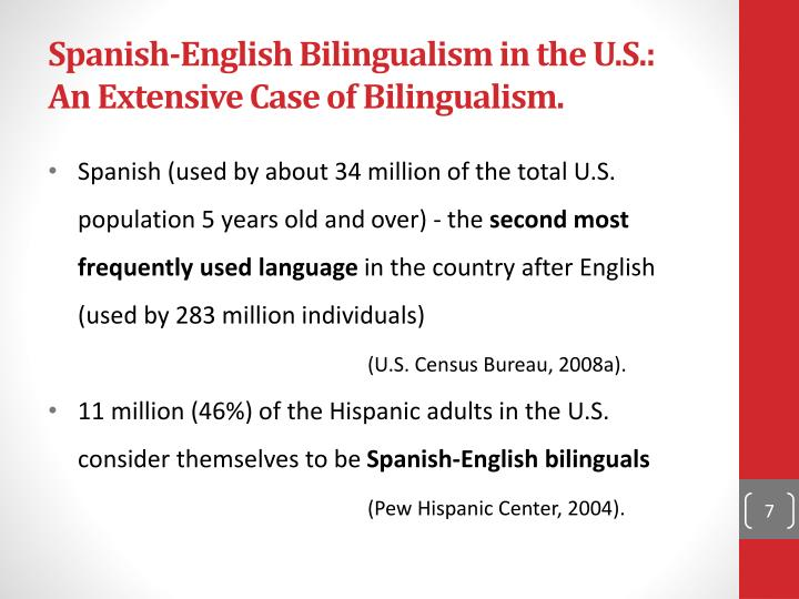 Spanish-English Bilingualism