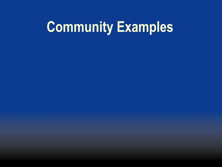 Community Examples