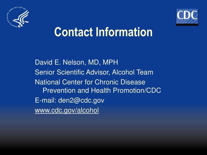David E. Nelson, MD, MPH