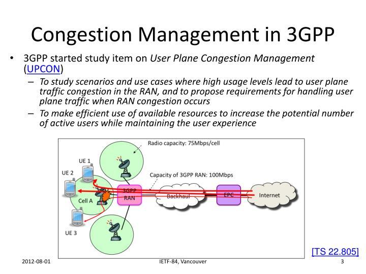 Congestion Management in 3GPP