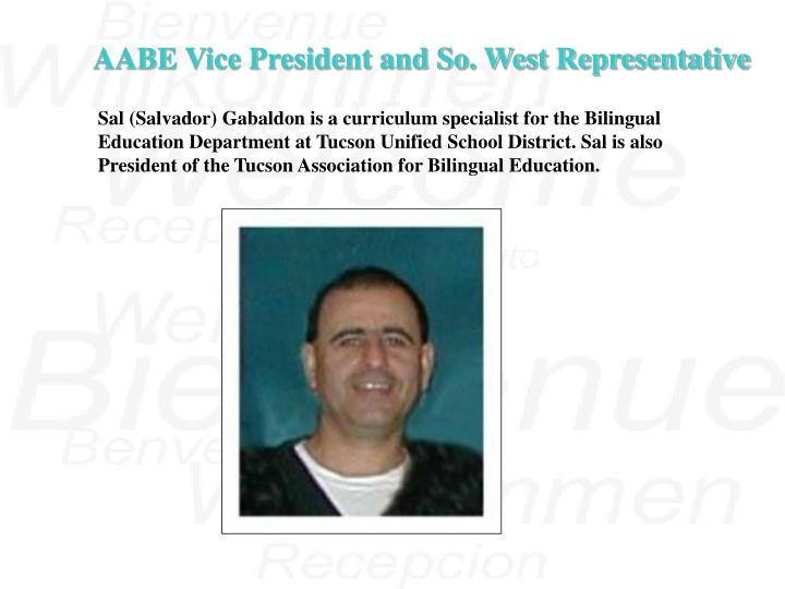 AABE Vice President and So. West Representative
