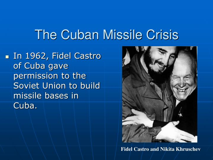 the secret plan of the soviet union to build missile bases in cuba Valerian zorin was the soviet union's permanent representative to the united nations during the cuban missile crisis in a heated exchange at the october 25 emergency meeting of the un security council, zorin was famously confronted by us ambassador to the un adlai stevenson with photographic evidence of the soviet missiles in cuba and .