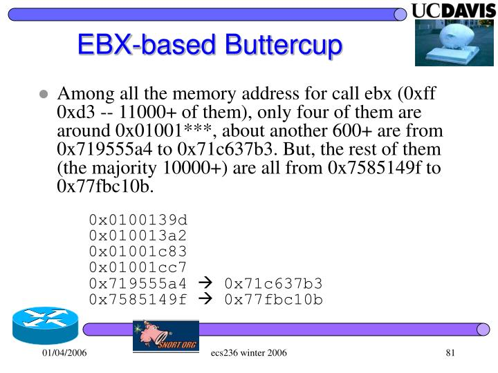 EBX-based Buttercup