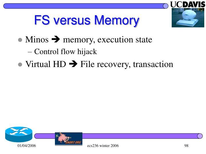 FS versus Memory