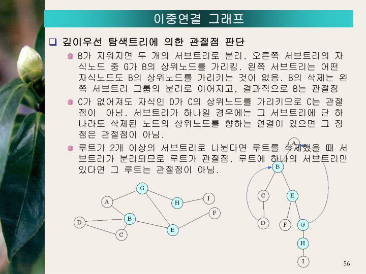 이중연결 그래프