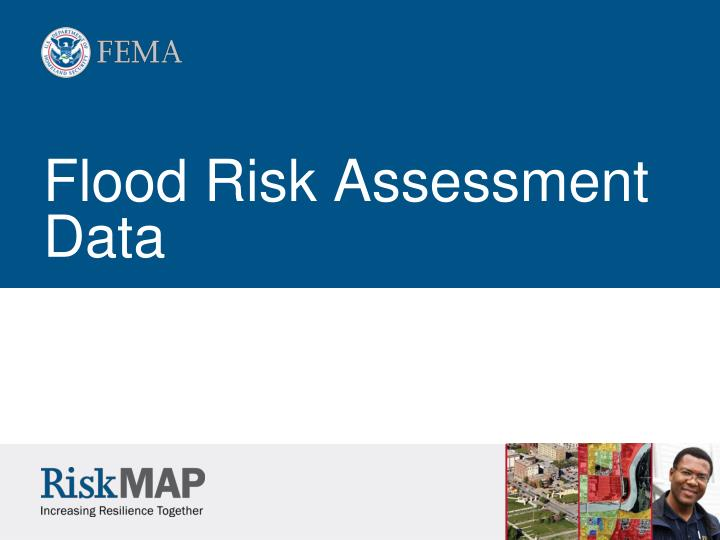 Flood Risk Assessment Data