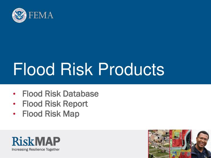 Flood Risk Products
