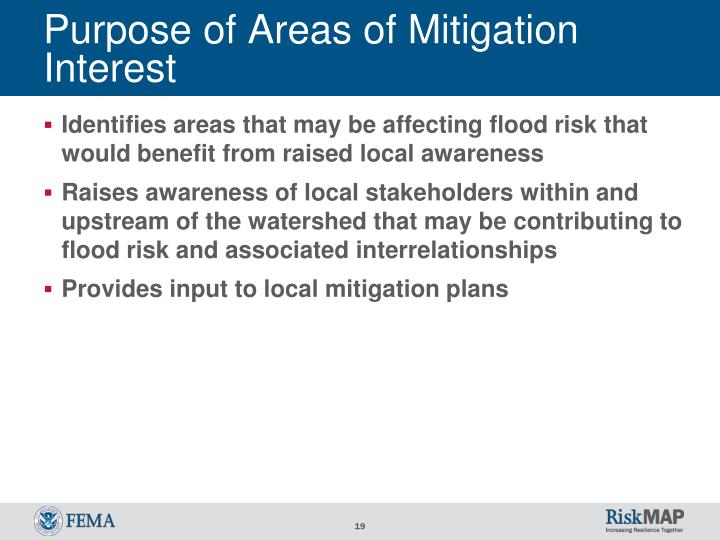 Purpose of Areas of Mitigation Interest