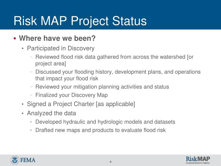 Risk MAP Project Status