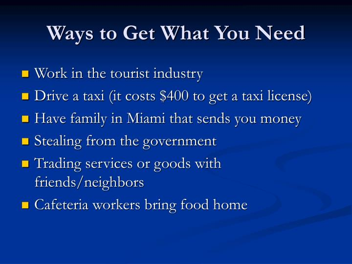 Ways to Get What You Need
