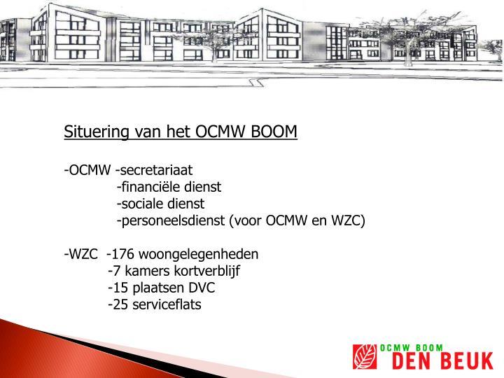 Situering van het OCMW BOOM