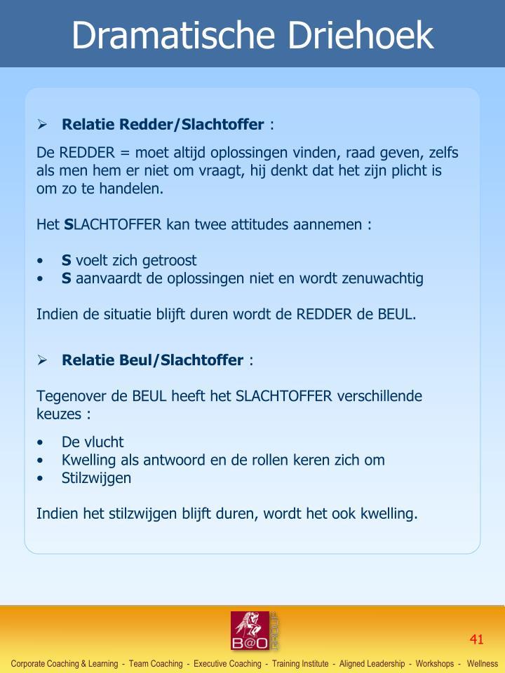 Relatie Redder/Slachtoffer