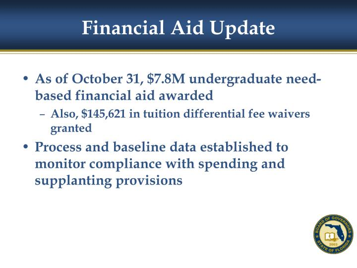 Financial Aid Update