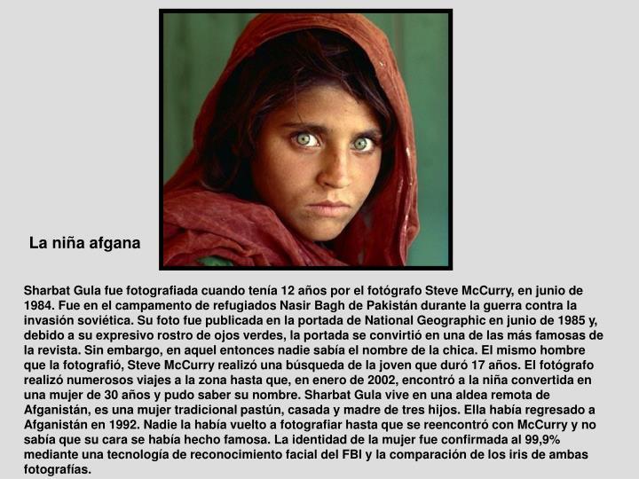 La niña afgana