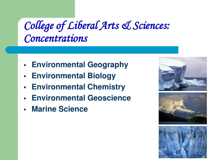 College of Liberal Arts & Sciences:  Concentrations