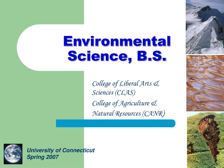 environmental science b s