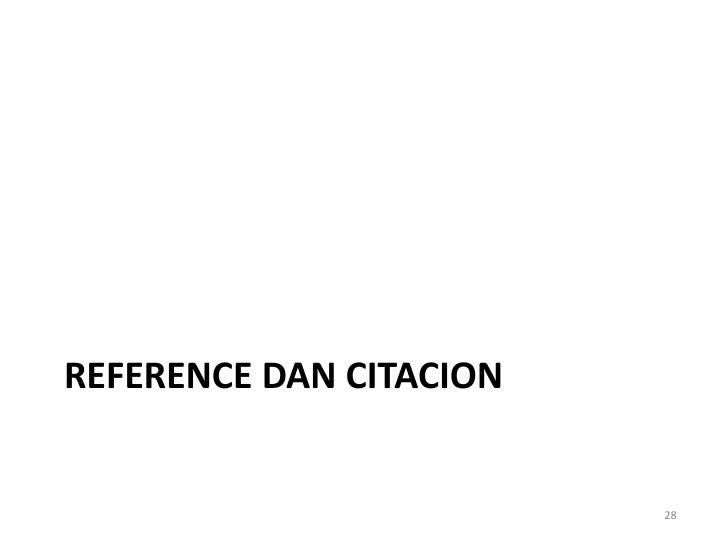REFERENCE DAN CITACION