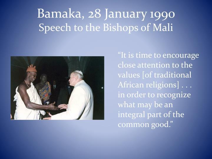 Bamaka, 28 January 1990