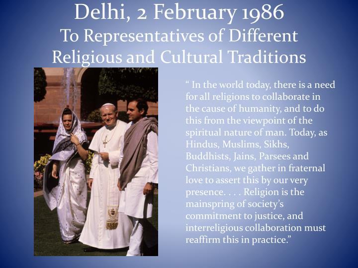 Delhi, 2 February 1986