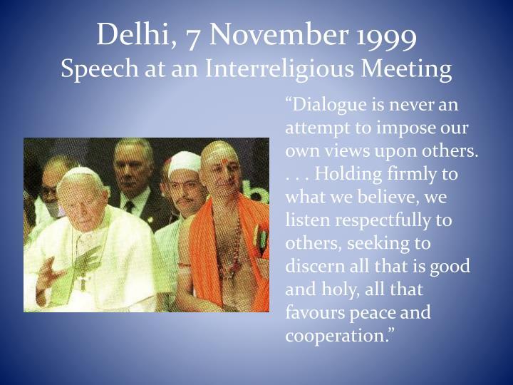 Delhi, 7 November 1999