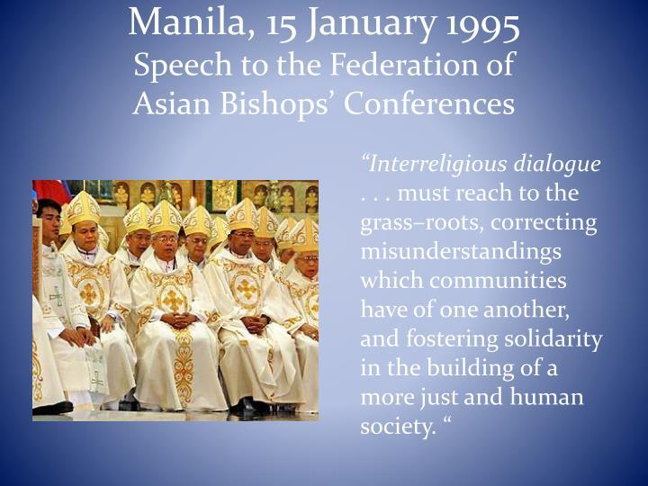 Manila, 15 January 1995