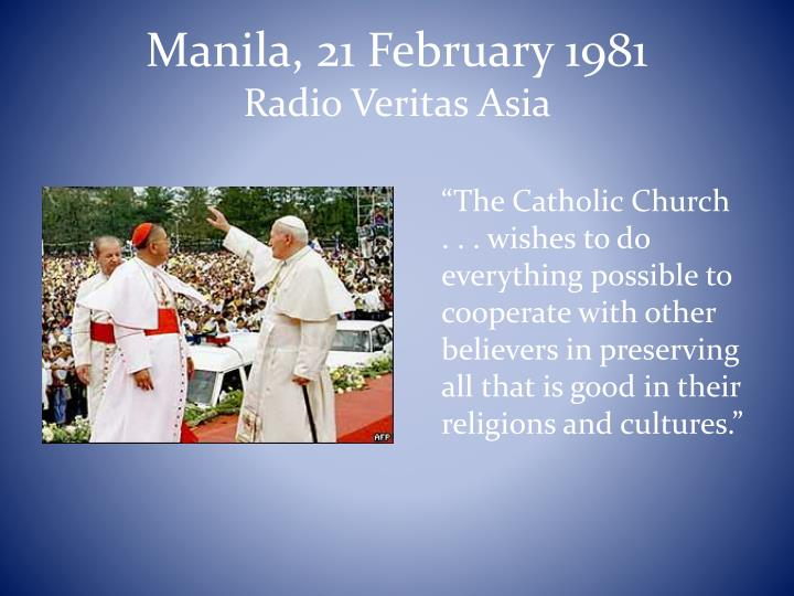 Manila, 21 February 1981