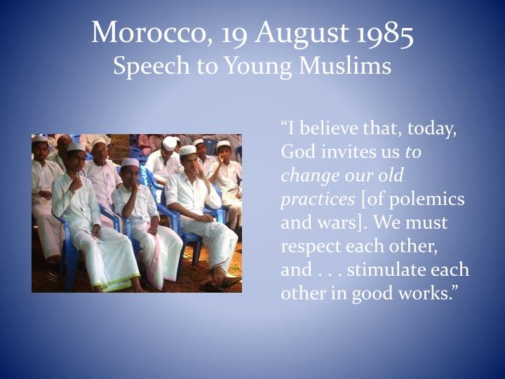 Morocco, 19 August 1985