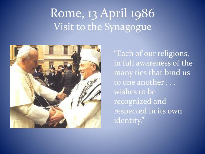 Rome, 13 April 1986