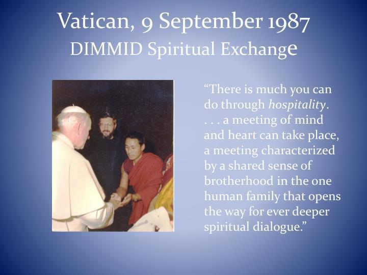 Vatican, 9 September 1987