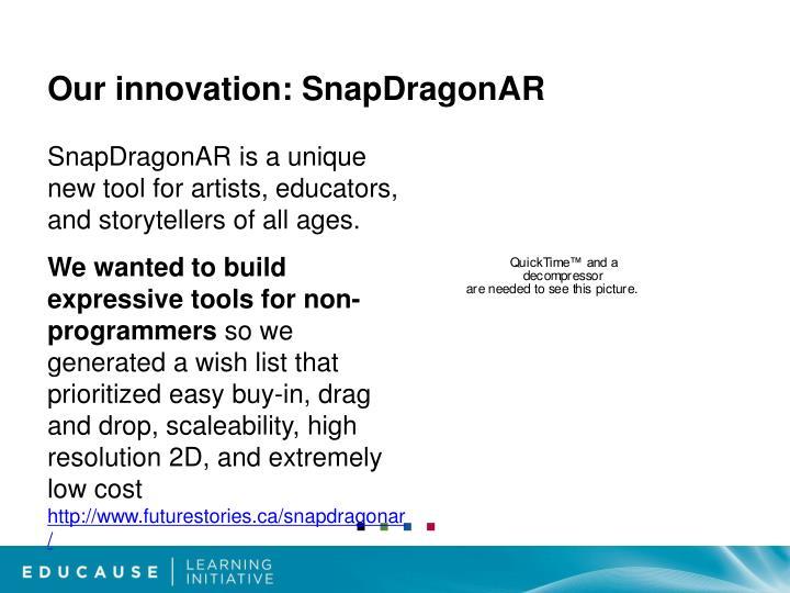 Our innovation: SnapDragonAR