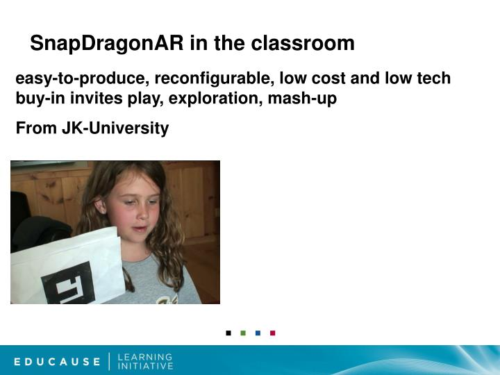 SnapDragonAR in the classroom