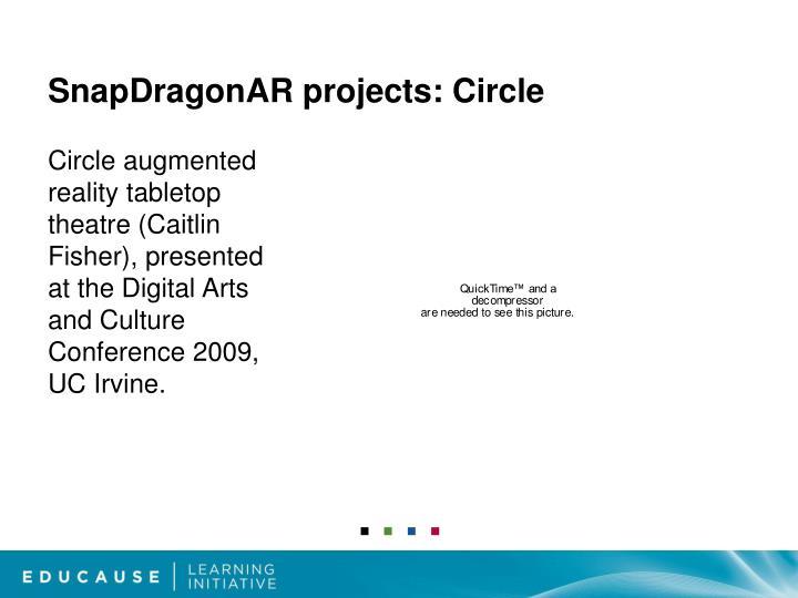 SnapDragonAR projects: Circle