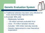 genetic evaluation system