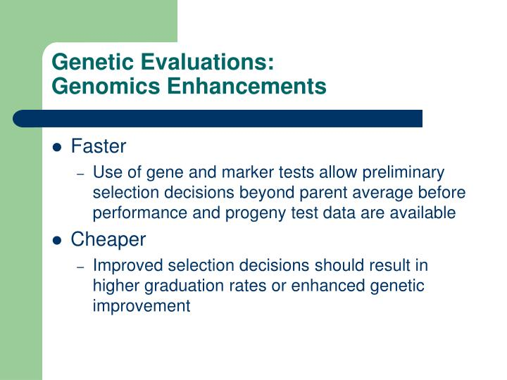 Genetic Evaluations: