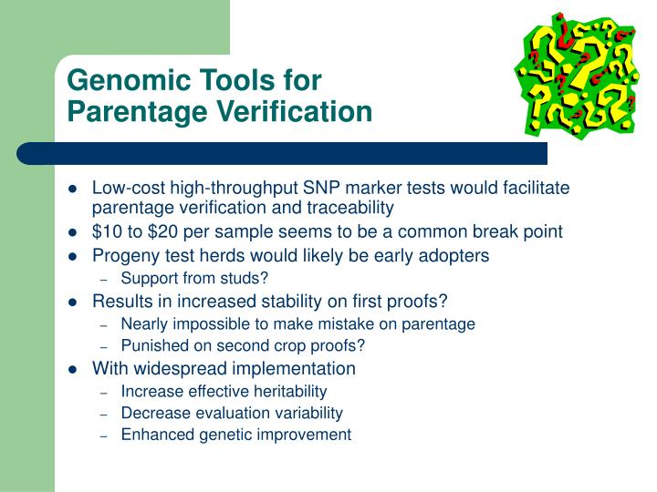Genomic Tools for