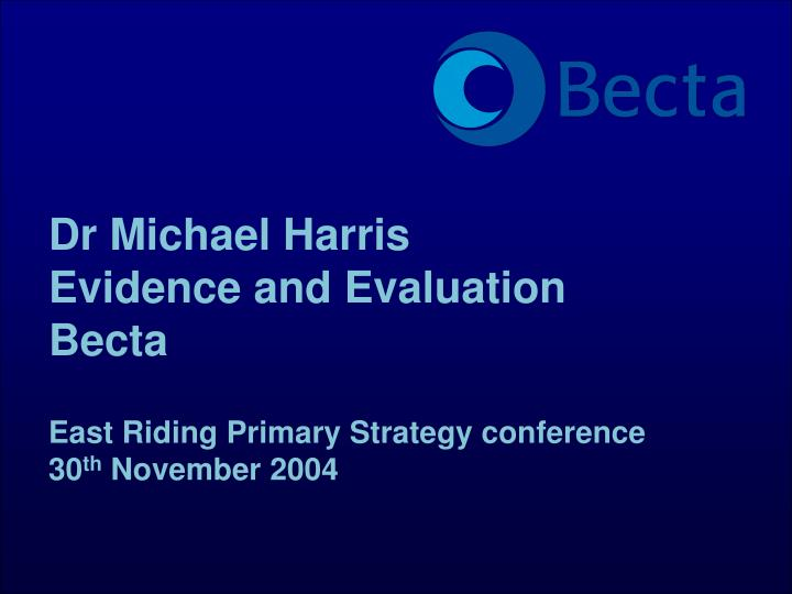 Dr Michael Harris