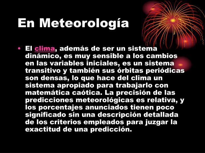 En Meteorología