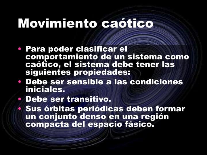 Movimiento caótico