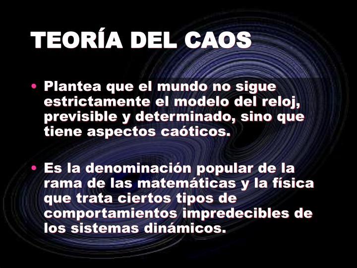 TEORÍA DEL CAOS